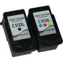 Tusze Canon PG-512 CL-513 do Canon MP230 MP240 MP250 MP480 MP490 MP495 iP2700 iP2702 MX320 MX330 MX340 MX350 MX360 MX410 MX420