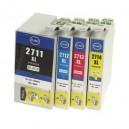 TUSZE do drukarek Epson WorkForce WF-3620 3640 7110 7610 7620  TFO T2711,T2712,T2713,T2714 T27 XL T27XL