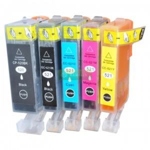 Tusze PGI-520 BK CLI-521 CMYK do Canon PIXMA iP3600 iP4600 iP4700 MP540 MP550 MP560 MP620 MP630 MP640 MP980 MP990 MX860 MX870