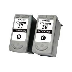 Tusze Canon PIXMA MX300 MX310 MP140 MP190 MP210 MP220 iP1800 iP1900 iP2500 iP2600 zamienniki XXL PG-37 CL-38