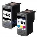 Tusze Canon PG-50 CL-51 do Canon PIXMA MX300 MX310 iP2200 MP150 MP160 MP170 MP180 MP450 MP460 FAX-JX200 JX210P JX500 JX510P