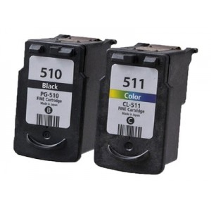 Tusze Canon PG-510 CL-511 XL do Canon MX320 MX330 MX340 MX350 MX360 MX410 MX420 MP252 MP260 MP280 MP282 MP490 MP495 iP2700