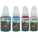 Tusze Canon GI-490 do Canon PIXMA G1400 G2400 G3400 G4400 zamienne GI-490BK, GI-490C, GI-490M , GI-490Y